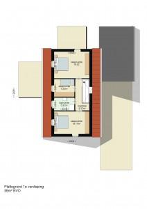 Plattegrond 1e verdieping Drentse Schuurwoning